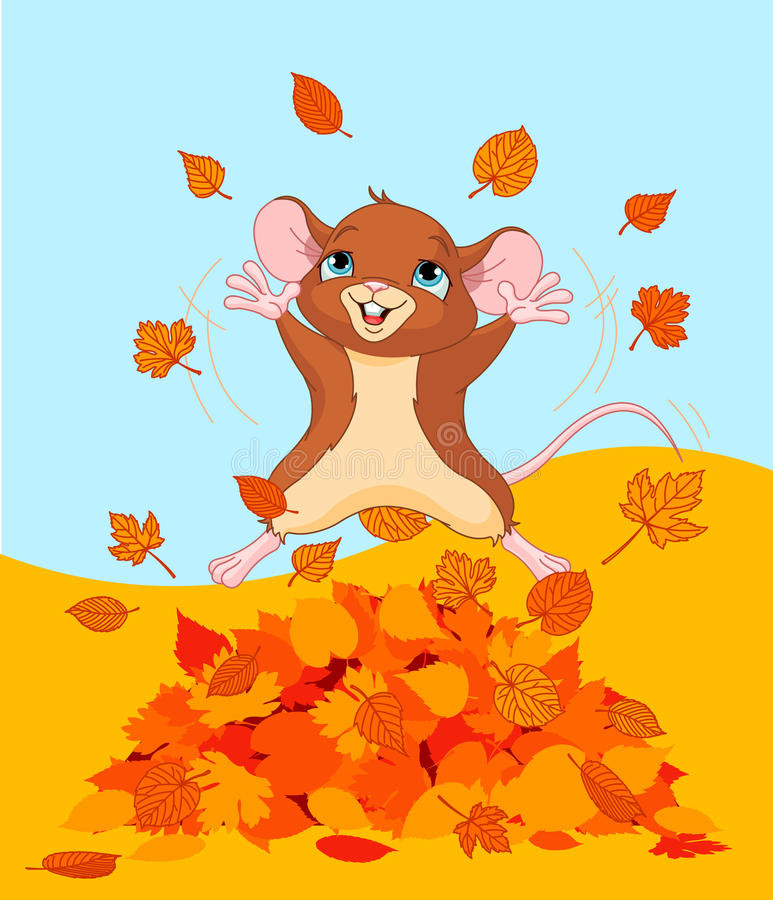 Download Happy Fall Mouse Royalty Free Stock Photography - Image: 26922827
