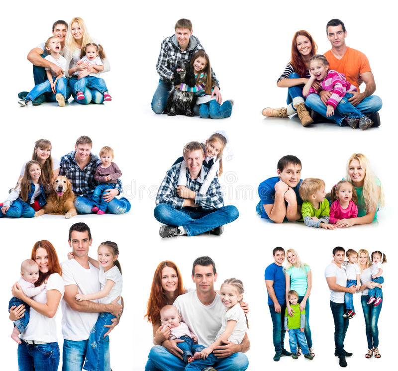 Happy families stock images