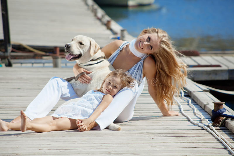 Download Happy family stock image. Image of beach, happiness, labrador - 10635277