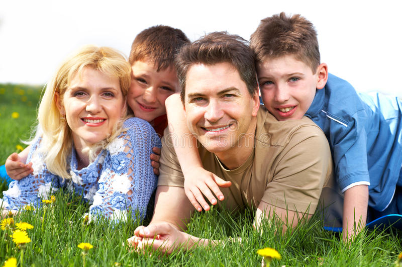 Download Happy family stock photo. Image of outdoor, landscape - 12391944