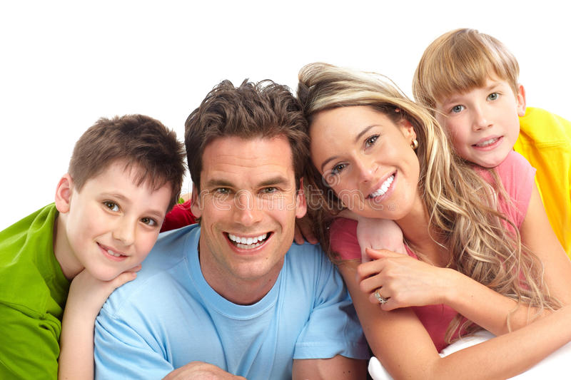 Download Happy family stock image. Image of white, isolated, happiness - 13435541