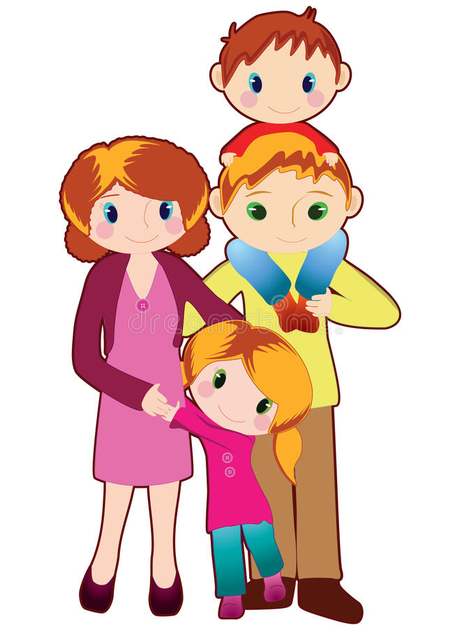 Download Happy family stock vector. Illustration of pose, funny - 13456745