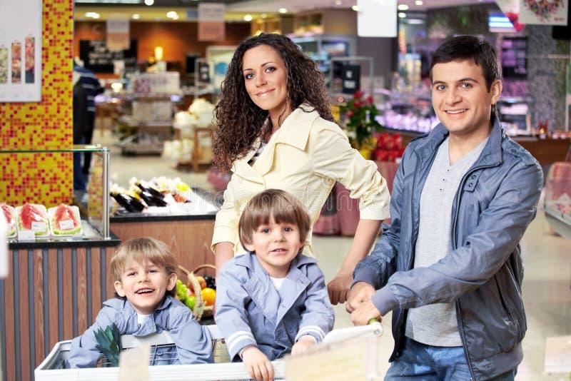 The happy family stock image