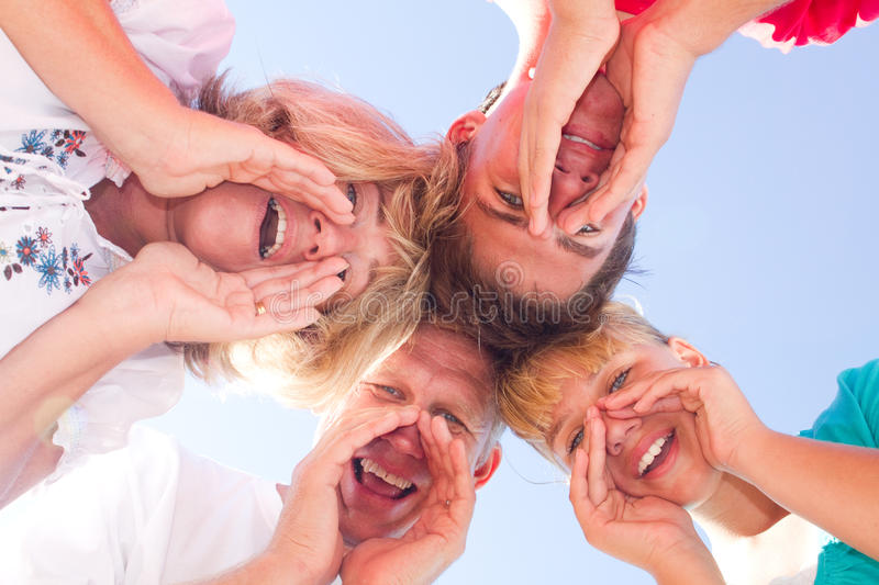 Download Happy family stock image. Image of father, group, middle - 13827583