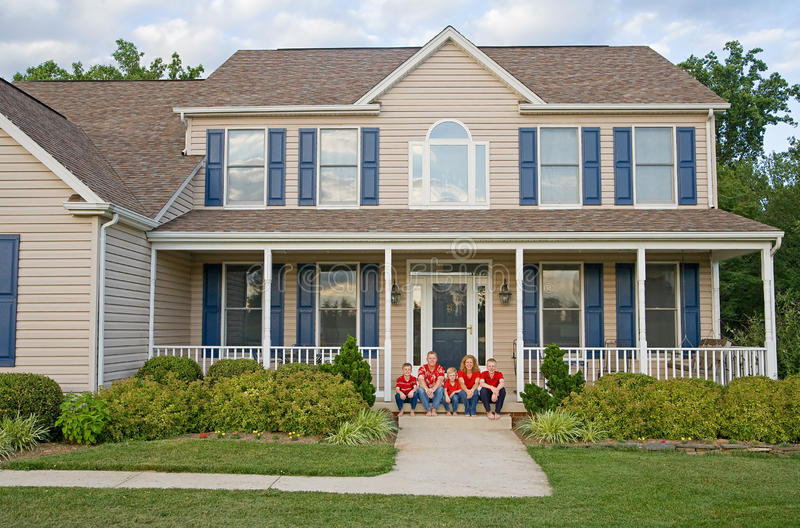 Download Happy Family stock image. Image of house, couple, five - 15488491