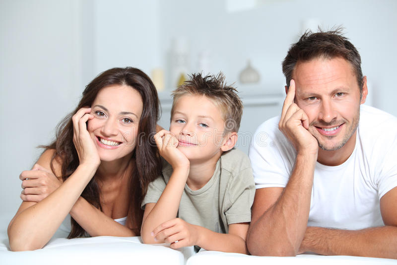 Download Happy family stock photo. Image of young, eyes, sofa - 16281532