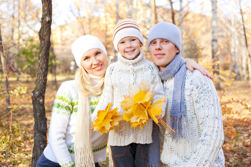 Download Happy family stock photo. Image of father, maple, people - 17020484
