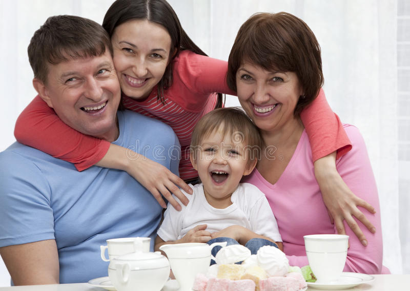 Download Happy family stock photo. Image of grandfather, happiness - 17219078