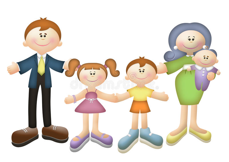 Download Happy Family stock illustration. Illustration of baby - 17231954