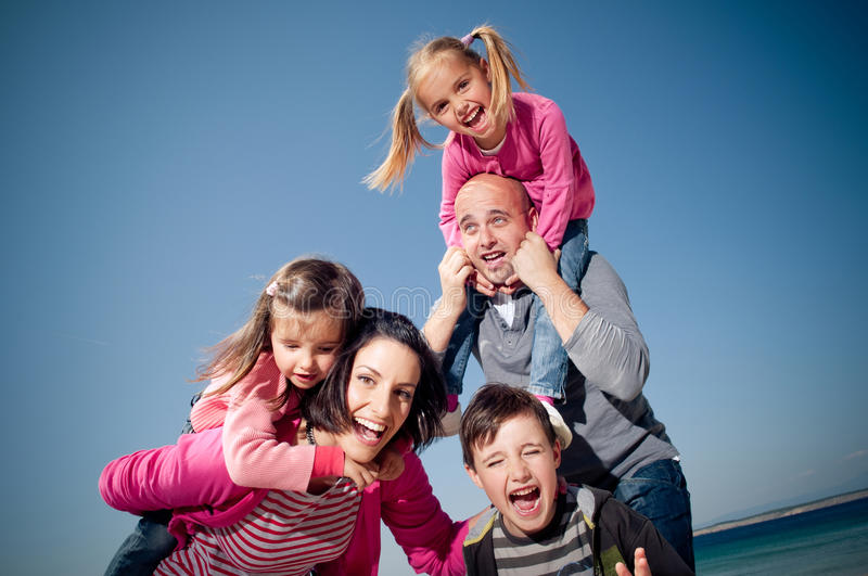 Download Happy family stock photo. Image of children, hugging - 19201248