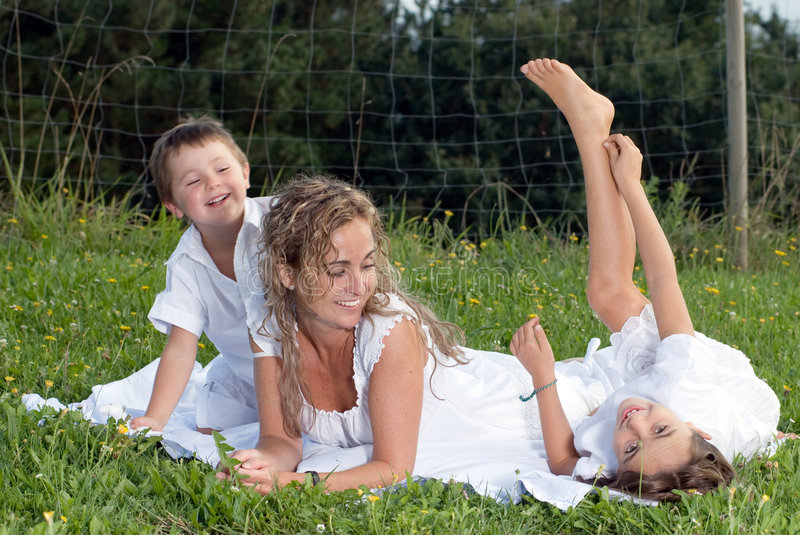 Download Happy family 2 stock photo. Image of mother, girl, sons - 4025346