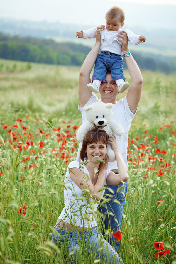 Happy family royalty free stock image