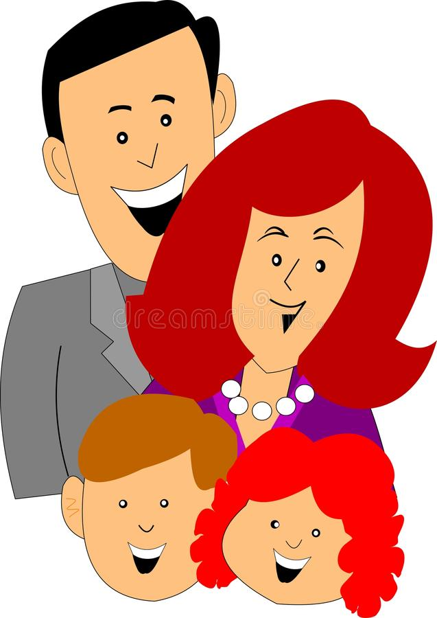 Download Happy family stock vector. Illustration of alone, family - 24315407