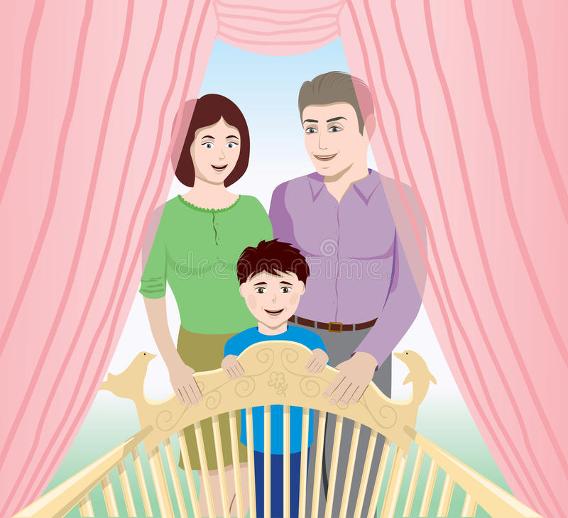 Download Happy family stock vector. Image of lovely, child, mother - 28617251