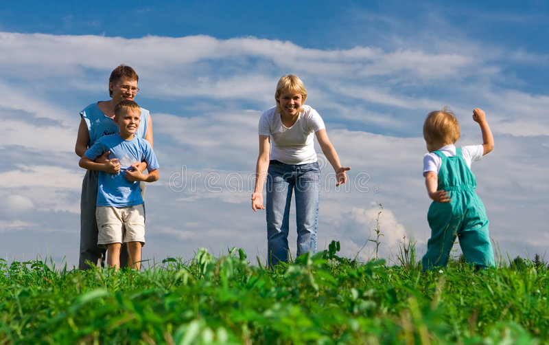 Download Happy family stock image. Image of father, grass, life - 2964045