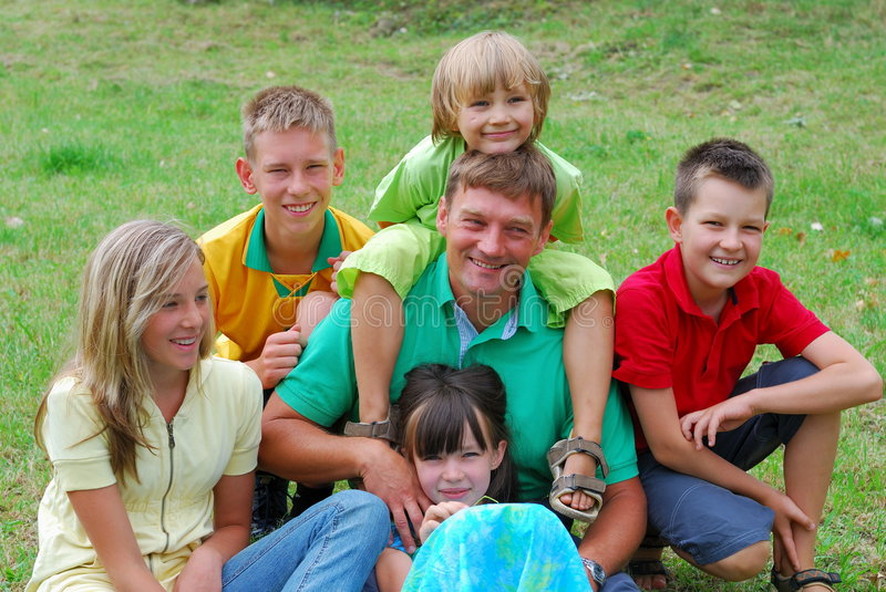 Download Happy family stock photo. Image of field, caucasians, kinship - 2989492