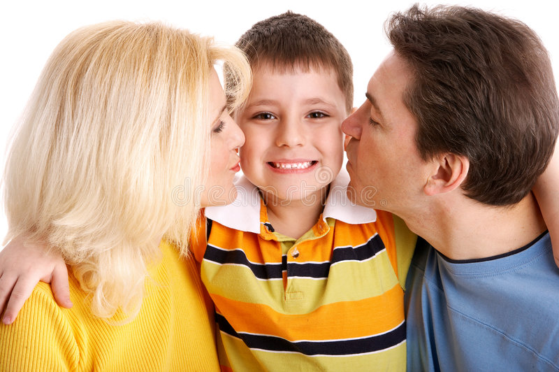 Download Happy family stock photo. Image of parenthood, kiss, mother - 4495088