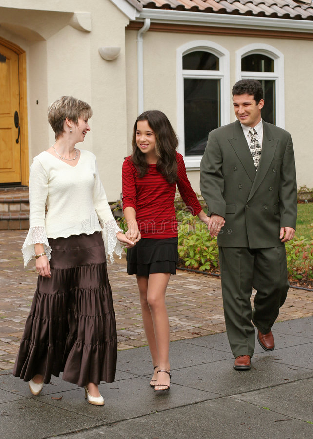 Download Happy family stock image. Image of teen, people, father - 464815