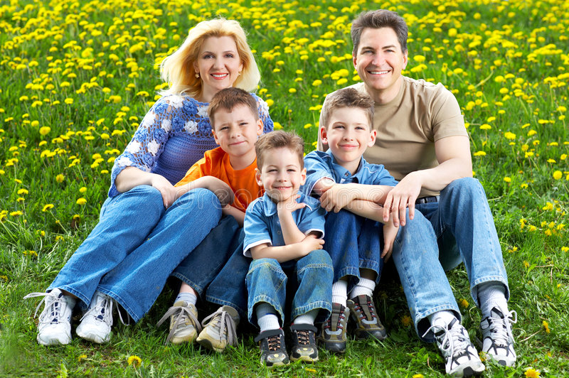 Download Happy family stock photo. Image of childhood, park, family - 5156016