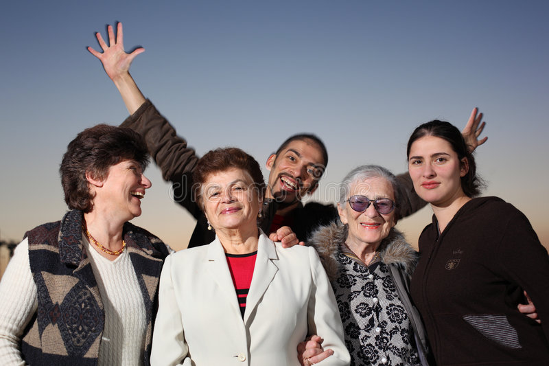 Download Happy family stock photo. Image of friendship, aged, face - 8612250