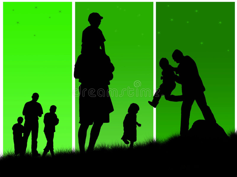 Download Happy family stock illustration. Illustration of child - 9027793