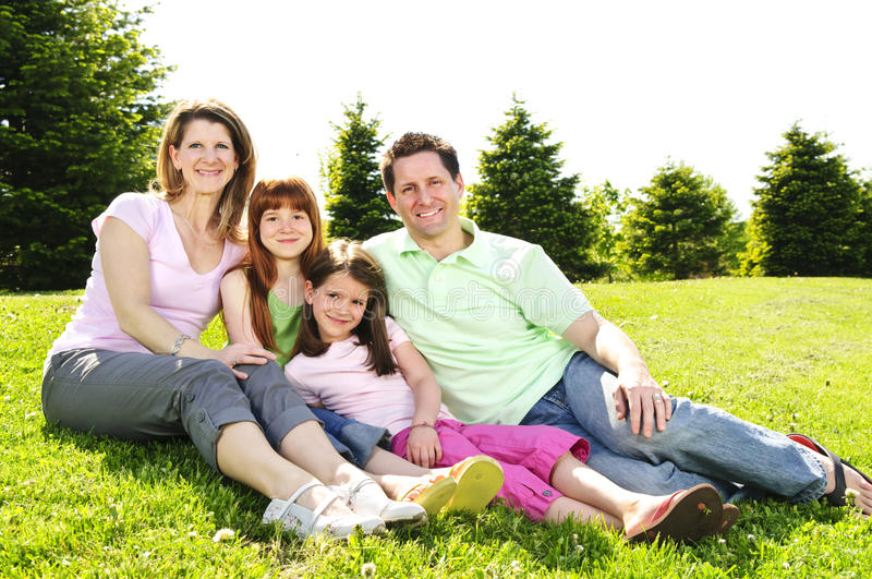 Download Happy family stock image. Image of family, outside, daughter - 9549267