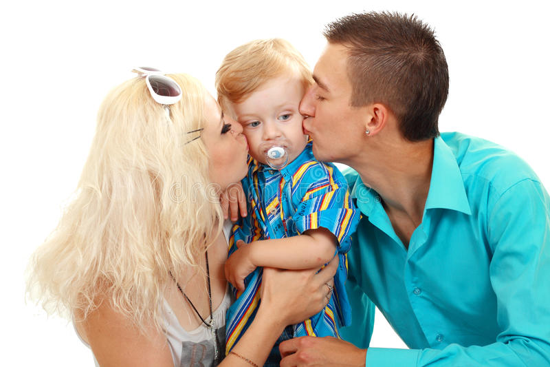 Happy family with baby royalty free stock images