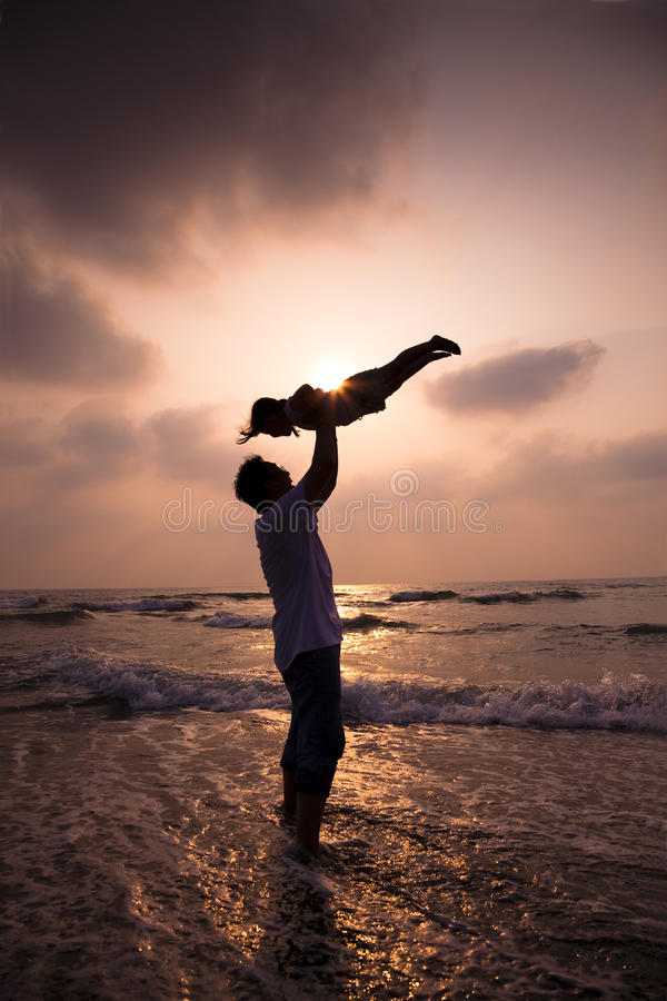 Download Happy family on the beach stock image. Image of cloud - 21804825