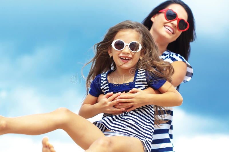 Download Happy family at beach stock photo. Image of mother, beach - 33650178