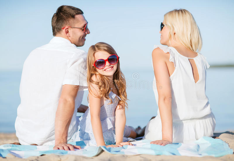 Download Happy family on the beach stock image. Image of mother - 34394091
