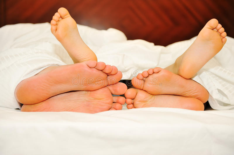 Download Happy family in bed stock image. Image of health, fingers - 18633853