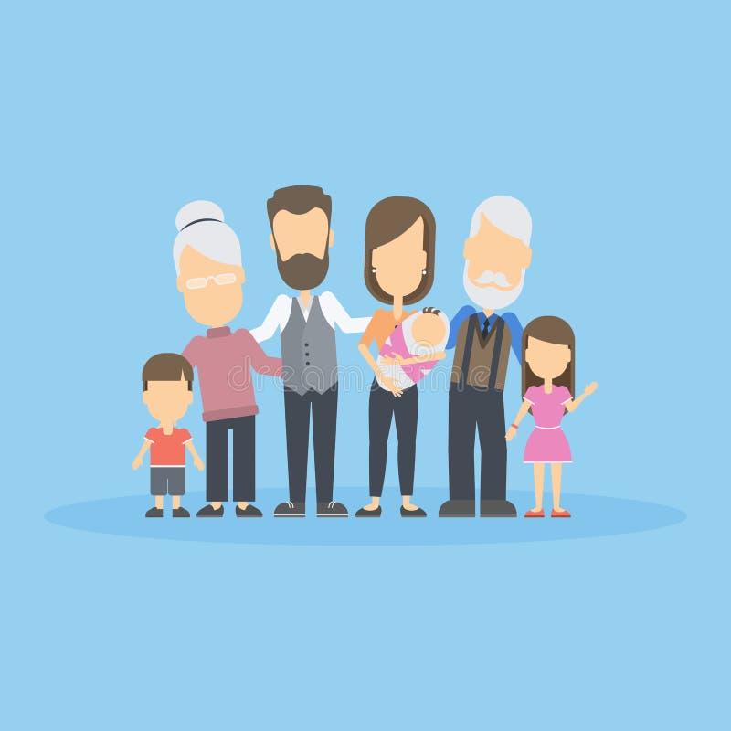 happy family. royalty free illustration
