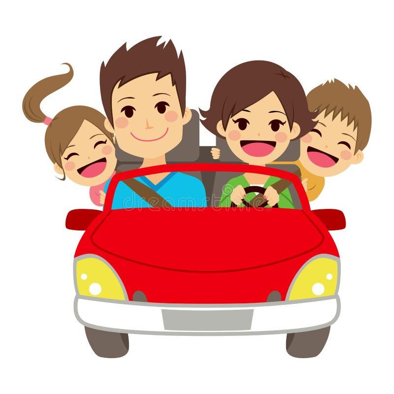 Happy Family Car stock vector. Illustration of children ...Family Car Clipart