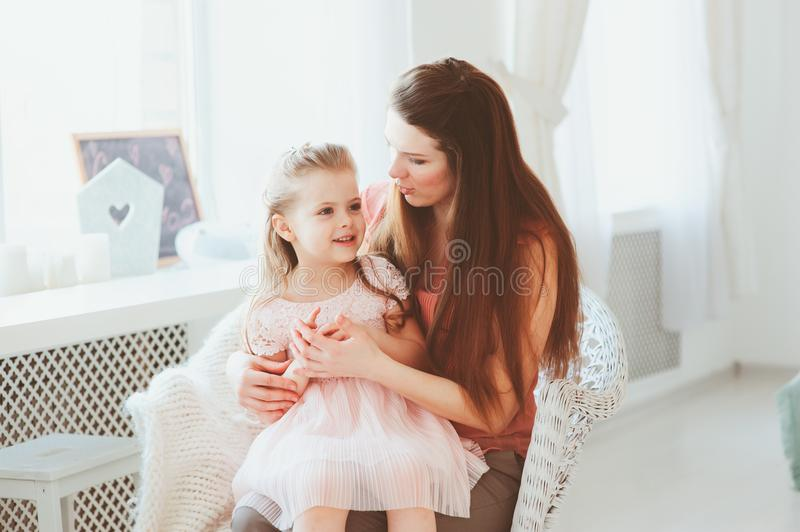 Happy family celebrating mothers day royalty free stock photos