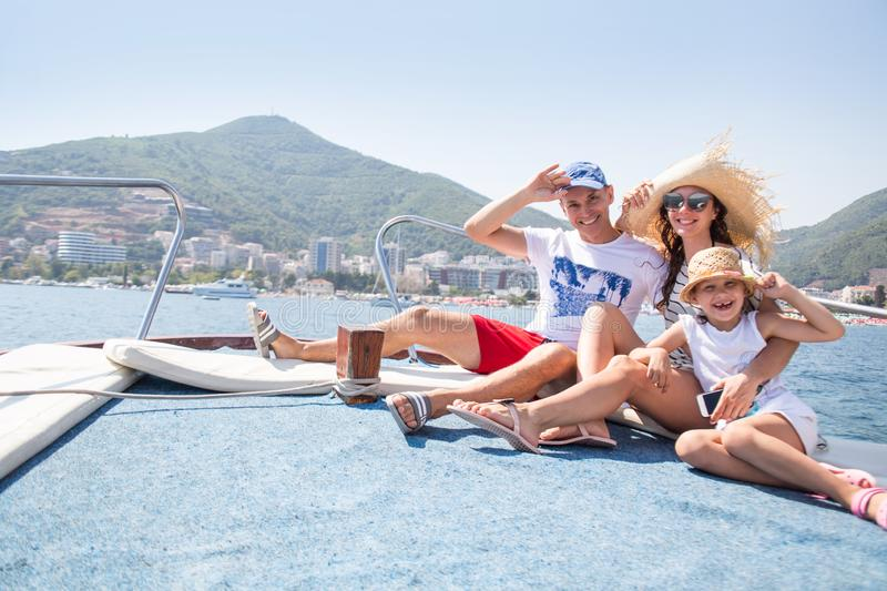 Vacation on a yacht stock photo