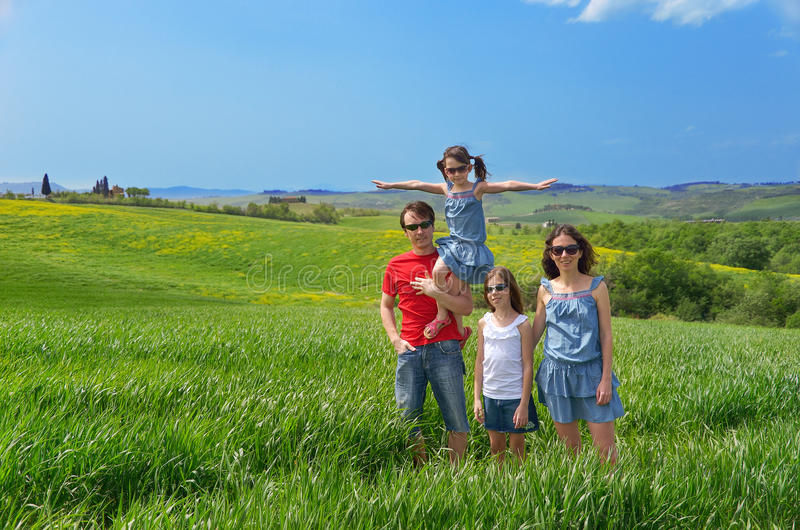 Download Happy Family With Children Having Fun Outdoors Stock Photo - Image: 31063330