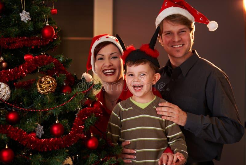 Happy Family At Christmas Royalty Free Stock Image