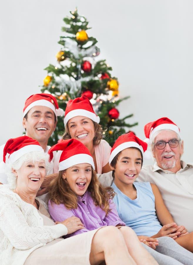 Happy Family At Christmas Royalty Free Stock Photos