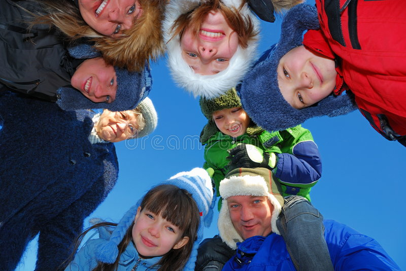 Download Happy Family Circle stock image. Image of grin, back, faces - 4190687