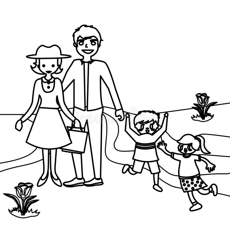 Family Coloring Page Stock Illustrations – 1,997 Family Coloring Page Stock  Illustrations, Vectors & Clipart - Dreamstime