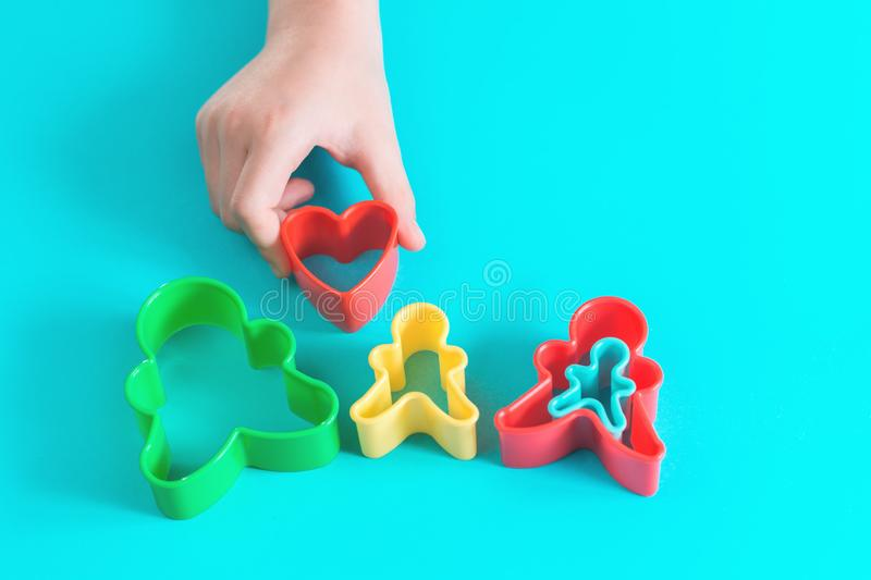 Happy family concept in hands of a child royalty free stock images