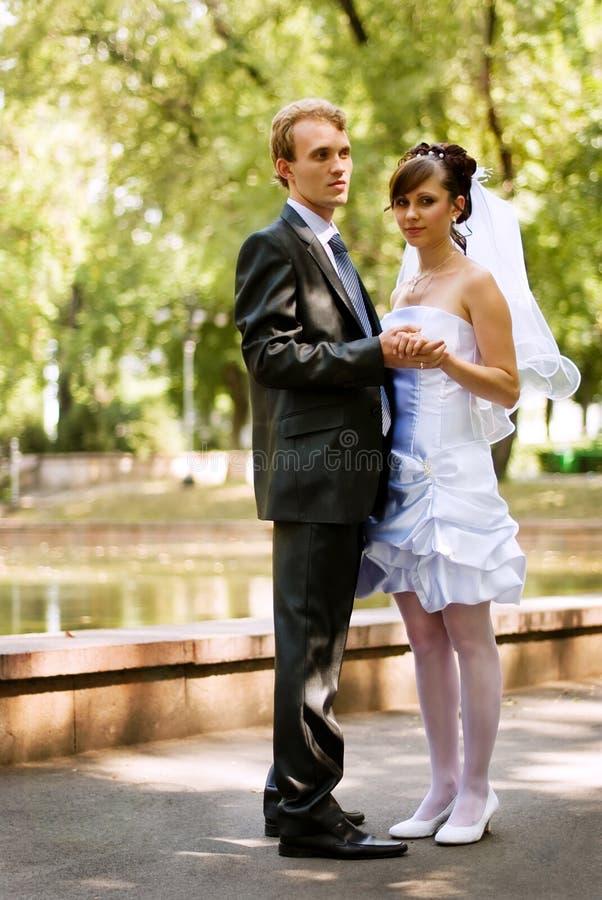 Happy family couple stock image