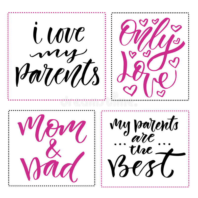 Happy family day prints set of hand drawn calligraphic phrases download happy family day prints set of hand drawn calligraphic phrases greeting card design m4hsunfo