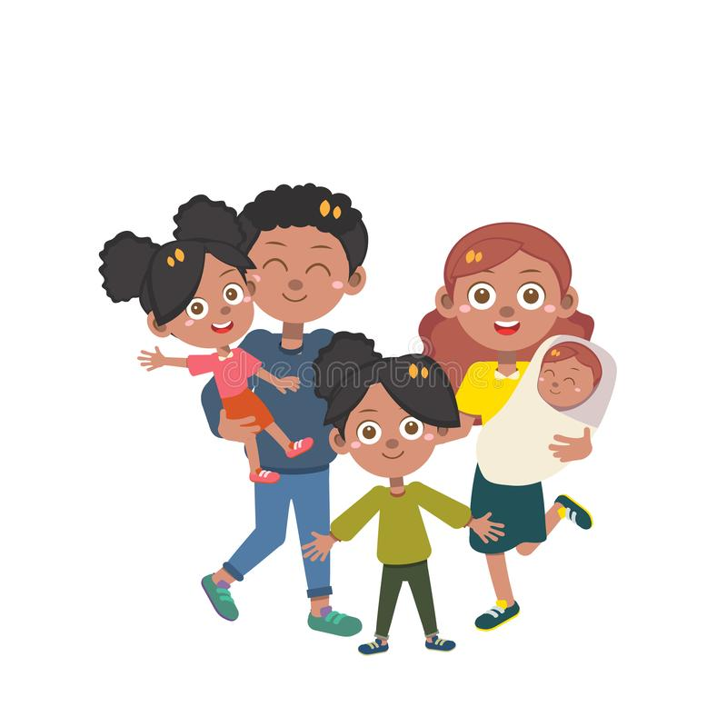 Happy family day vector isolated stock images