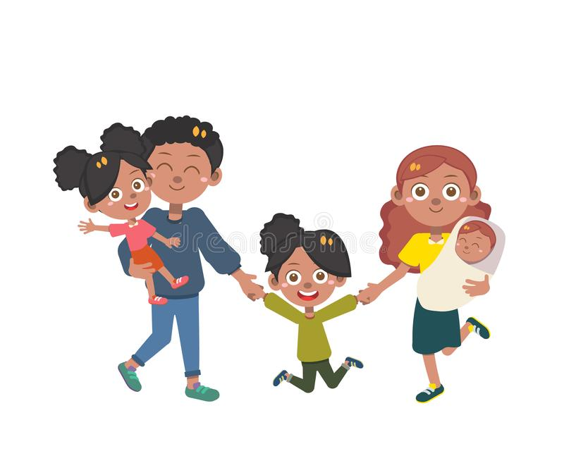 Happy family day vector isolated royalty free stock image