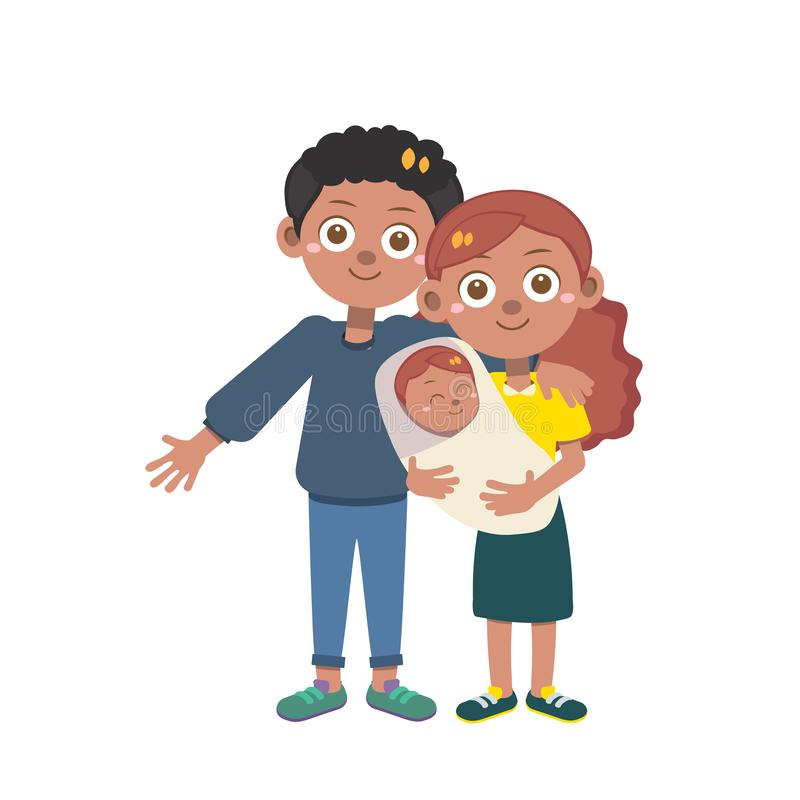 Happy family day vector isolated stock photo