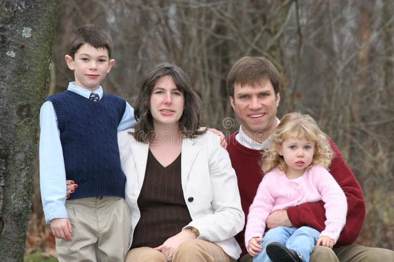 Happy Family of Four People (2) royalty free stock image