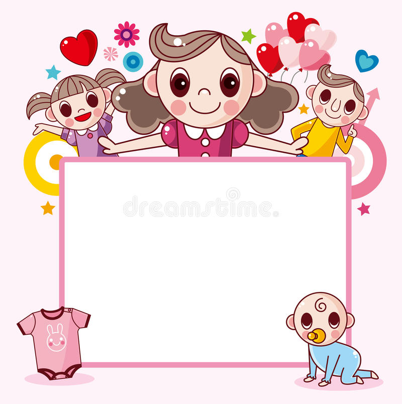 Happy Family Frame Royalty Free Stock Images