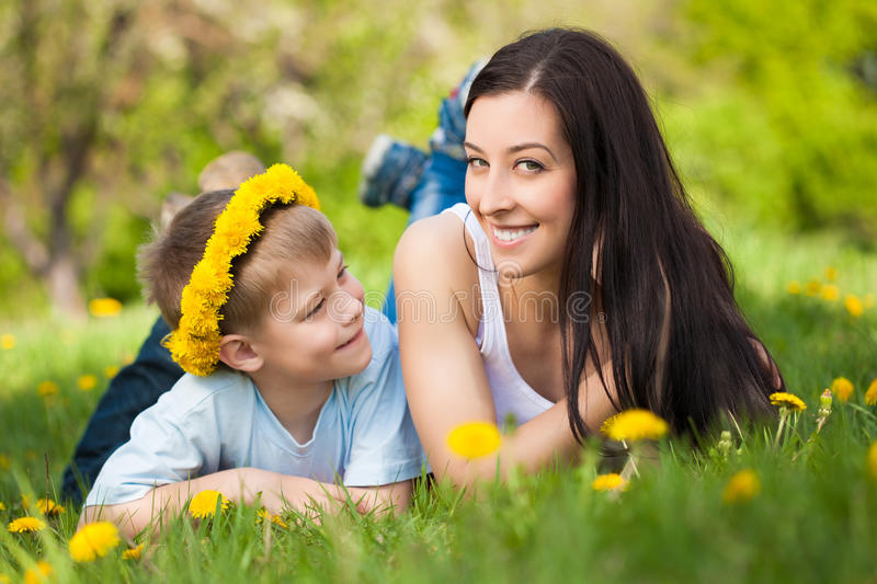 Download Happy Family In A Green Park. Summer Stock Image - Image: 30782411