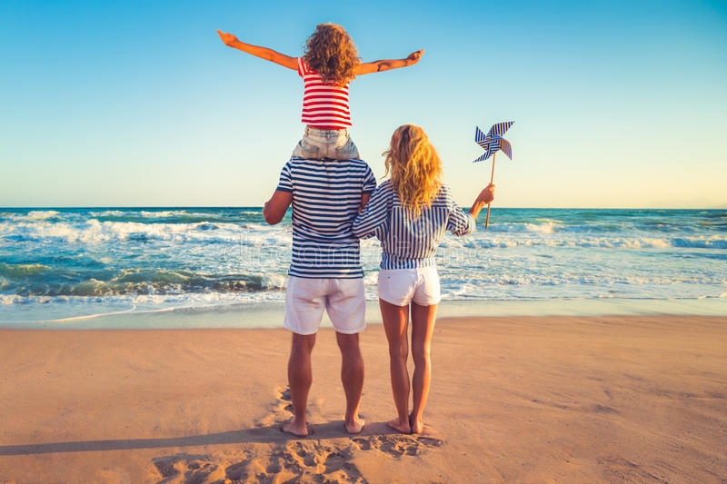 Download Happy Family Having Fun On Summer Vacation Stock Photo - Image of success, mother: 92511378